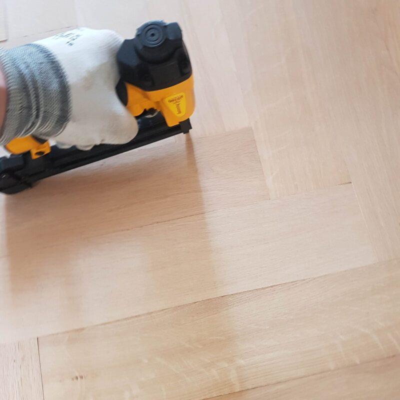 Houten tapis vloer