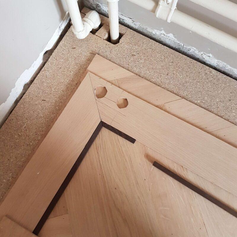 Leggen van tapis vloer
